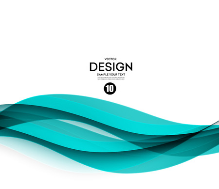 Abstract vector background, blue waved lines for brochure, website, flyer design.  illustration Фото со стока - 52422608