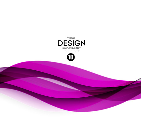 Abstract smooth color wave vector. Curve flow purple motion illustration