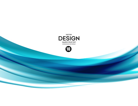 Abstract design: Abstract blue waved lines design. Illustration