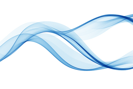 Abstract blue waved lines design. 일러스트
