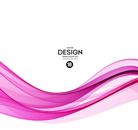 Abstract smooth color wave vector. Curve flow pink motion illustration