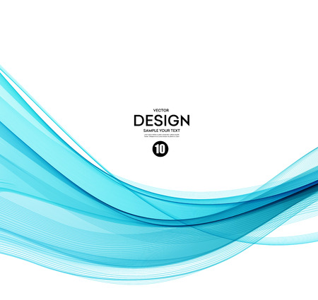 water wave: Abstract vector background, blue transparent waved lines.