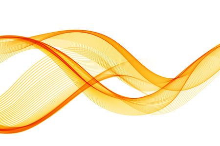 Abstract orange color wave design element. Abstract smooth color wavy vector. Curve flow orange motion illustration. Orange smoke wave lines. Orange wave Imagens - 53407915