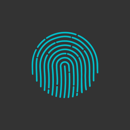 ID app icon. Fingerprint vector illustration. fingerprint Icon. fingerprint Icon Vector. fingerprint Icon Sign. fingerprint Icon Flat. fingerprint icon app