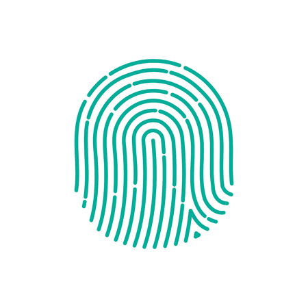 ID app icon. Fingerprint vector illustration. fingerprint Icon. fingerprint Icon Vector. fingerprint Icon Sign. fingerprint Icon Flat. fingerprint icon app