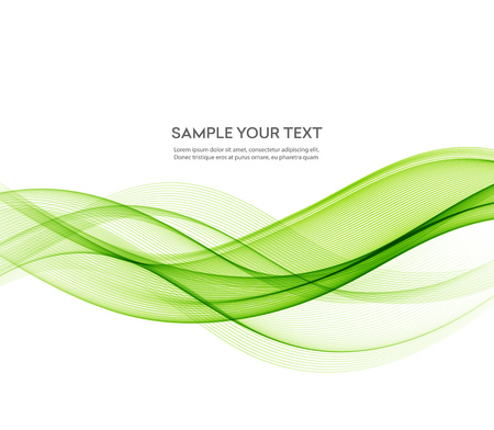 Abstract green wavy lines.  Colorful vector background. Green wave. Green smoke wave. Transparent green wave. green wave design