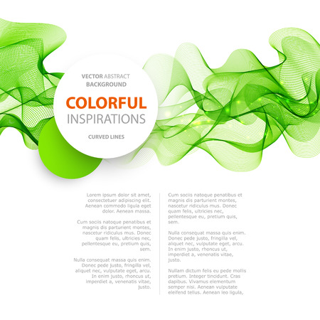 green smoke: Abstract green wavy lines.  Colorful vector background. Green wave. Green smoke wave. Transparent green wave. green wave design