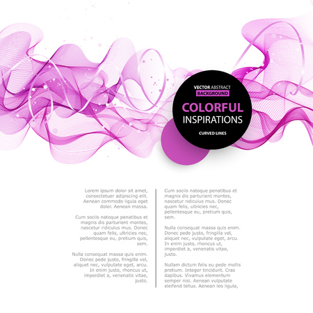 abstract pink: Abstract smooth color wave vector. Curve flow pink motion illustration