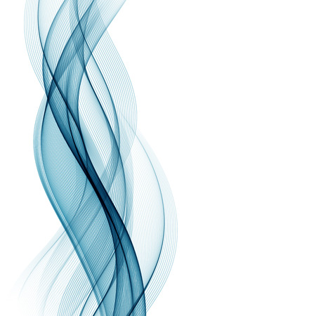 Abstract smooth color wave vector. Curve flow blue motion illustration