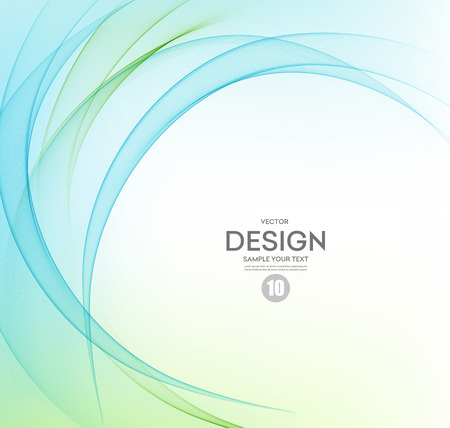 abstraktní: Abstraktní vektor pozadí, modrá a zelená zamával linky.