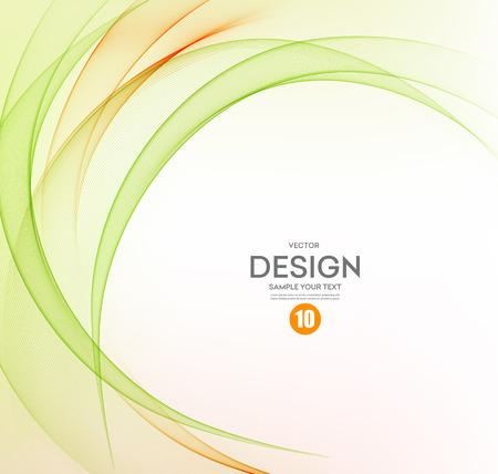 Abstract vector background, orange and green waved lines for brochure, website, flyer design.  illustration eps10