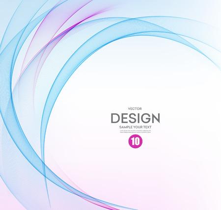 추상적 인 벡터 배경, 브로셔, 웹 사이트, 전단지 디자인에 파란색과 보라색 흔들며 라인. 그림 EPS10