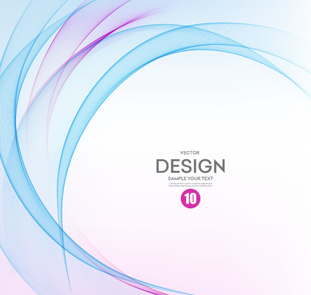 Abstract vector background, blue and purple waved lines for brochure, website, flyer design.  illustration eps10