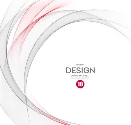 Abstract background vettoriale, grigio e rosso ondeggiato linee per brochure, sito web, design flyer. Illustrazione eps10 Vettoriali