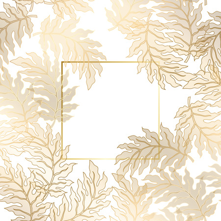 royal rich style: Vector vintage gold card with damask pattern  EPS 10