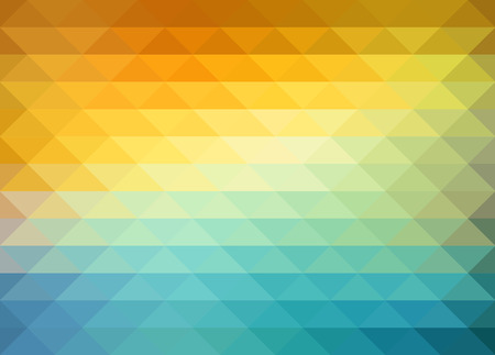 yellow: Abstract geometric background with orange, blue and yellow triangles. Vector illustration Summer sunny design. Illustration