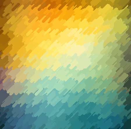 color design: Abstract geometric background with orange, blue and yellow color. Vector illustration Summer sunny design. Illustration