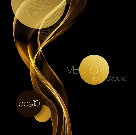 Abstract gold luxury wave layout background. Vector illustration Illustration