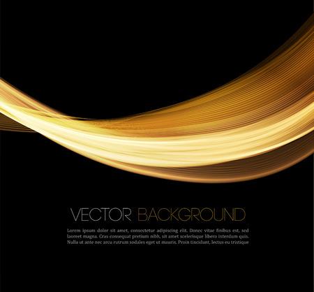 ゴールド高級波レイアウト背景を抽象化します。ベクトル図  イラスト・ベクター素材