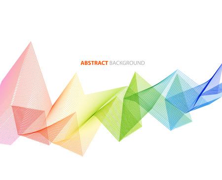 Resumen elemento de diseño de onda de color. Líneas del arco iris Ilustración de vector