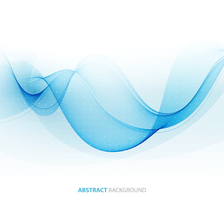 Abstract color wave design element. Blue wave