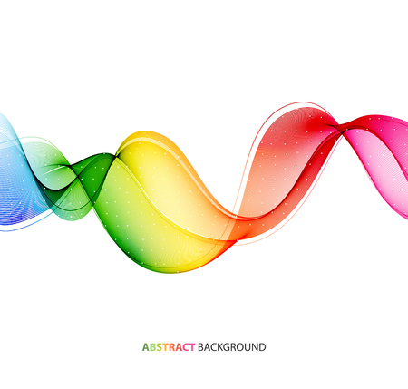 wave abstract: Abstract color wave design element. Rainbow wave