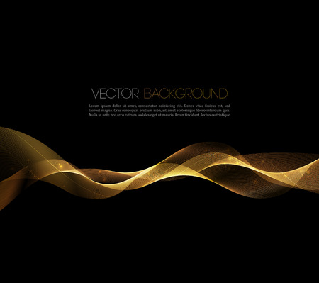 Abstract gold luxury wave layout background. Vector illustration Ilustração