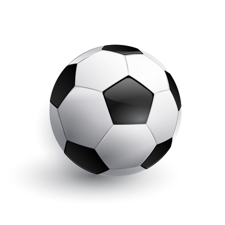 footie: Soccer ball. Football ball. Realistic soccer ball isolated on white.