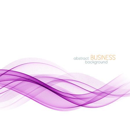 抽象的な波のデザイン要素。紫波