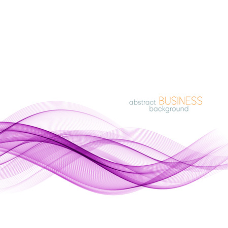 Abstract color wave design element. Purple wave