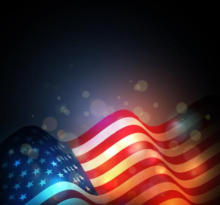julio: Bandera de los Estados Unidos. fondo EE.UU. Día de la Independencia. Cuatro de Julio celebrar Vectores