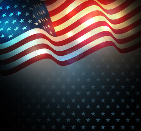 AMERICAN FLAG: United States flag.  USA Independence Day background. Fourth of July celebrate