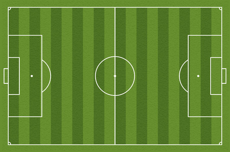 Soccer field, illustration. Football field with lines and areas. Marking the football field. soccer field size regulations.  105:68 m Banco de Imagens - 54493446