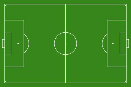 voetbalveld, illustratie. Voetbalveld met lijnen en vlakken. Markering het voetbalveld. voetbalveld grootte regelgeving. 105: 68 m