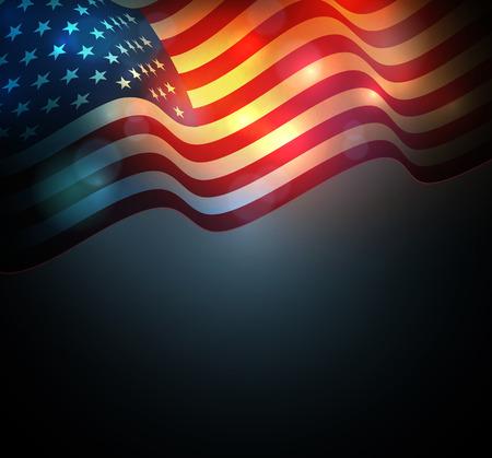 美国国旗。美国独立日的背景。7月4日庆祝活动