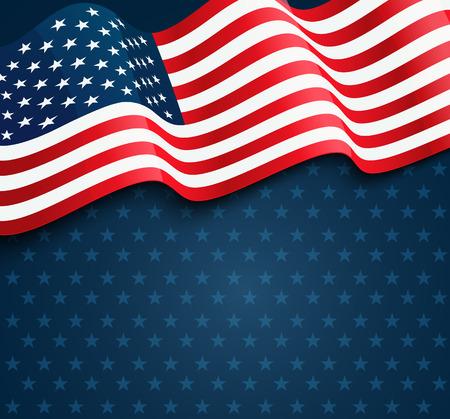 spojené státy americké: Spojené státy americké vlajky. USA Den nezávislosti pozadí. Čtvrtého července oslavit Ilustrace