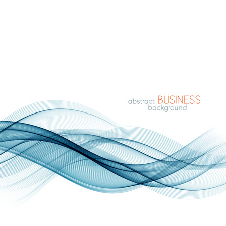 Abstract color blue wave design element. Blue wave background. Blue transparent wave