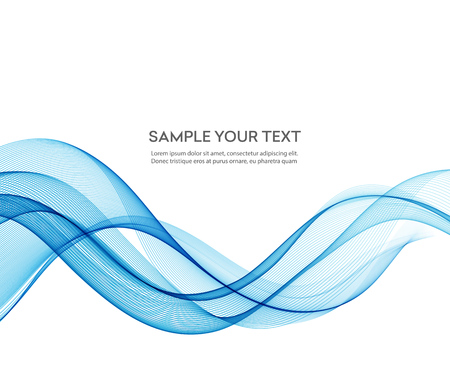 Abstract color blue wave design element. Blue wave background. Blue transparent wave