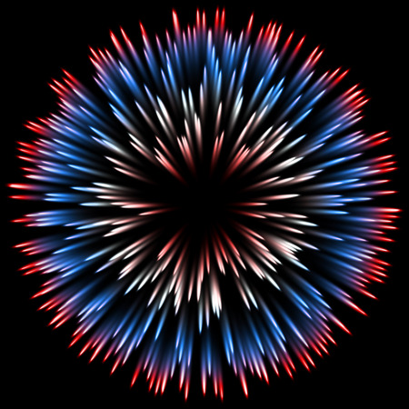 Vector color design with a burst. Holiday fireworks