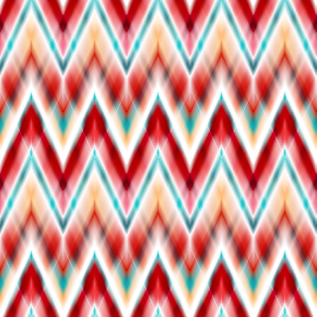 indigenous culture: Vector seamless ikat ethnic pattern. Boho design. Ethnic Colored seamless zigzag patten