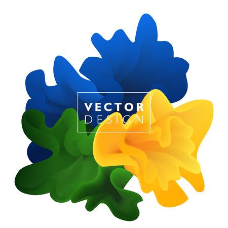 Vector abstract color cloud.  Liquid ink splash. Background for banner, card, poster, web design Illustration