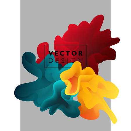 color mixing: Vector abstract color cloud.  Liquid ink splash. Background for banner, card, poster, web design Illustration