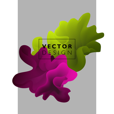 splash abstract: Vector abstract color cloud.  Liquid ink splash. Background for banner, card, poster, web design Illustration