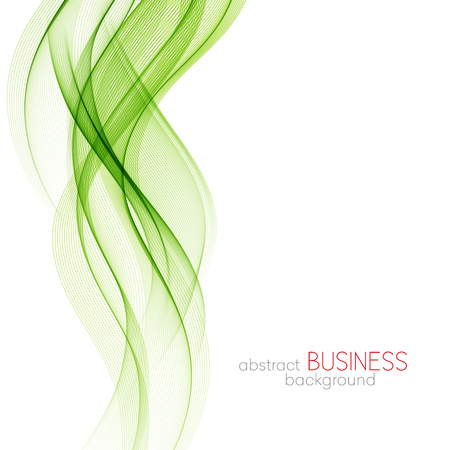 lineas onduladas: Abstract green wavy lines.  Colorful vector background Vectores