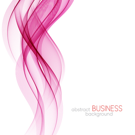 abstract pink: Abstract vector background, pink and purple transparent waved lines for brochure, website, flyer design.  Pink smoke wave. PINK and purple wavy background Illustration