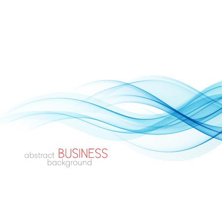 Abstract vector background, blue transparent waved lines for brochure, website, flyer design.  Blue smoke wave. Blue wavy background