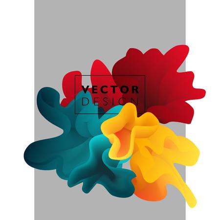 Nube de color abstracto de vector. Salpicaduras de tinta líquida. Fondo para banner, tarjeta, cartel, diseño web Ilustración de vector