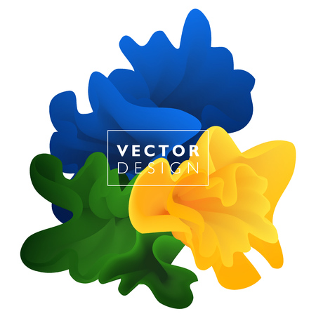 Vector abstract color cloud. Liquid ink splash. Background for banner, card, poster, web design