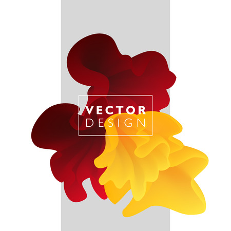 Abstract design: Vector abstract color cloud.  Liquid ink splash. Background for banner, card, poster, web design Illustration