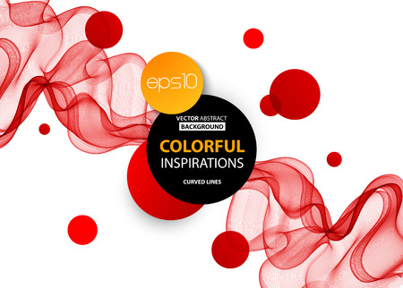 red smoke: Abstract smooth color wave vector. Curve flow red motion illustration. Abstract vector background, red transparent waved lines for brochure, website, flyer design.  Red smoke wave. Red wavy background Illustration
